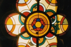 Fensterrosette Kirchturm